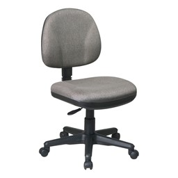 Work Smart Deluxe Ergonomic Task Chair w/o Arm Rests - Icon Gray
