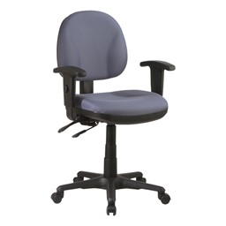 Work Smart Deluxe Ergonomic Task Chair w/ Arm Rests - Icon Gray