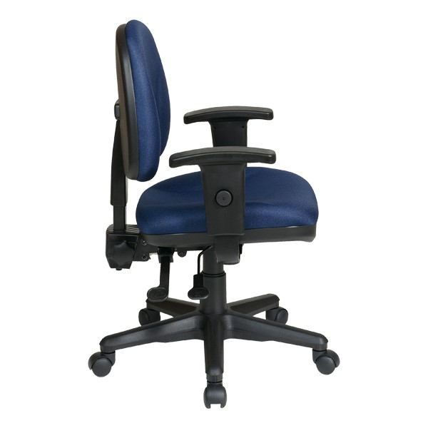 Work Smart Deluxe Ergonomic Task Chair w/ Arm Rests - Icon Navy