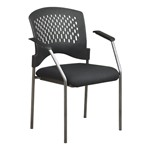 Titanium Finish Stacking Visitors Chair w/ Arm Rests