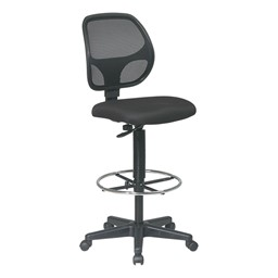 Work Smart Mesh Back Drafting Chair