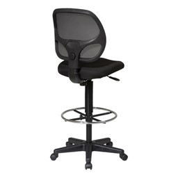 Work Smart Mesh Back Drafting Chair - Back view