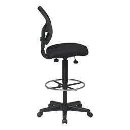Work Smart Mesh Back Drafting Chair - Side view