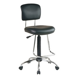Work Smart Drafting Stool w/ Chrome Teardrop Footrest