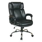Executive Big Man's Chair w/ Eco Leather Seat & Back - Black