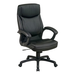 Work Smart Executive Chair w/ Two-Tone Stitching