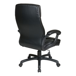 Work Smart Executive Chair w/ Two-Tone Stitching - Back view