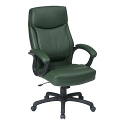 Work Smart Executive Chair w/ Top Stitching - Green