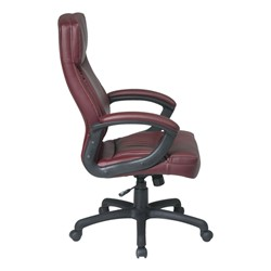 Work Smart Executive Chair w/ Top Stitching - Side view