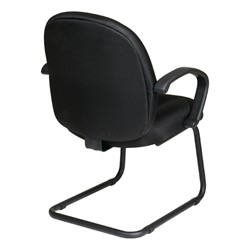 Work Smart Multi-Function Guest Chair - Diamond Jet Black - Back view