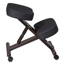Ergonomic Wood Knee Chair - Espresso