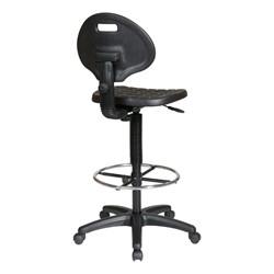"Work Smart Self-Skinned Urethane Drafting Stool (21 3/4"" - 31 3/4"" Adjustable) - Back view"