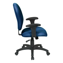Work Smart Sculptured Office Chair w/ Adjustable Arms - Side view