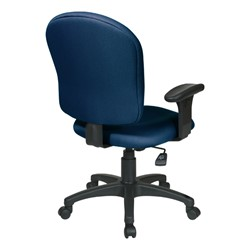 Work Smart Sculptured Office Chair w/ Adjustable Arms - Back view