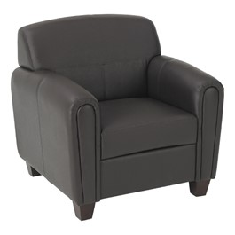 Pillar Series Leather Club Chair