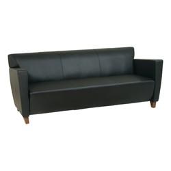 SL Series Leather Sofa - Black leather