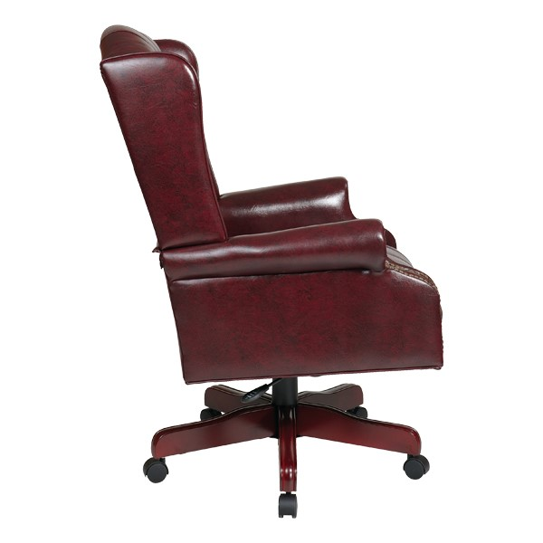 Traditional Vinyl Executive Chair w/ High Back