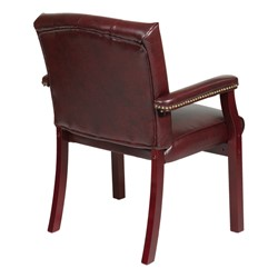 Traditional Guest Chair w/ Padded Arms - Vinyl - Back view