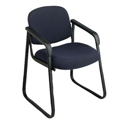 Sled-Base Guest Chair w/ Arm Rests - Festival midnight blue