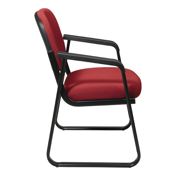 Sled-Base Guest Chair w/ Arm Rests - Side view
