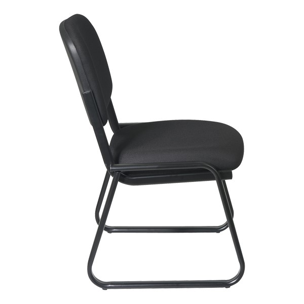 Sled-Based Guest Chair w/o Arm Rests - Side view