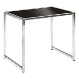 Chrome Reception Table w/ Glass Top - End Table