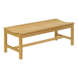 Oxford Backless Wood Bench (4\' L)