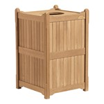 Outdoor Wooden Trash Receptacle