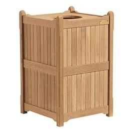 Outdoor Wooden Trash Receptacle