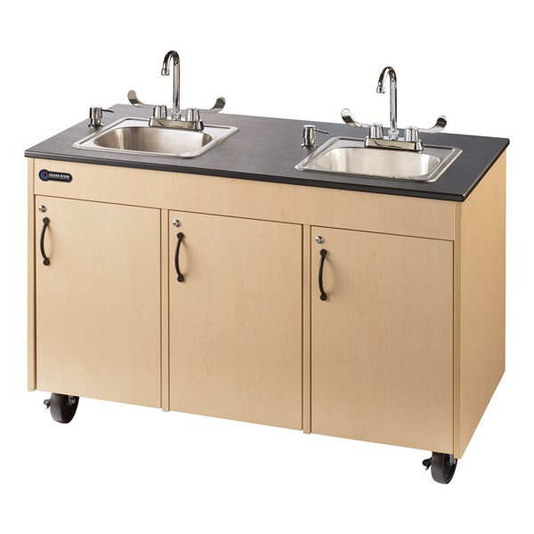Ozark River Manufacturing Co Lil Deluxe Child Height Double Basin Portable Sink At School Outfitters