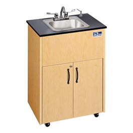 Portable Hand-Washing Station w/ Stainless Steel Basin - One Basin