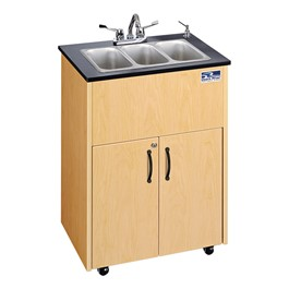Portable Hand-Washing Station w/ Stainless Steel Basin - Three Basins