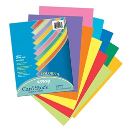 "Array Card Stock (8 1/2"" W x 11\"" L) - Assorted Colors - 50 Sheets"