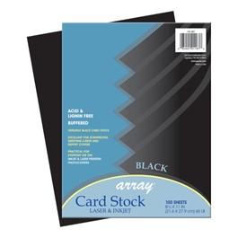"Array Card Stock (8 1/2\"" W x 11\"" L) - Black - 100 Sheets"