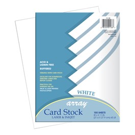"Array Card Stock (8 1/2"" W x 11\"" L) - White - 100 Sheets"