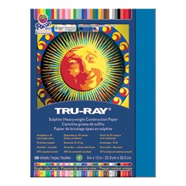 "Tru-Ray Sulphite Construction Paper (9"" W x 12\"" L) - Blue"