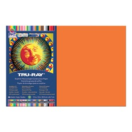 "Tru-Ray Sulphite Construction Paper (12"" W x 18\"" L) - Orange"