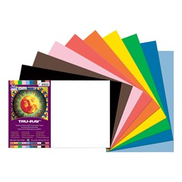 "Tru-Ray Sulphite Construction Paper (12"" W x 18\"" L) - Assorted Colors"