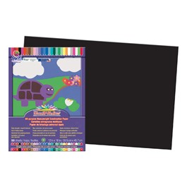 "SunWorks Construction Paper (12"" W x 18\"" L) - Black"