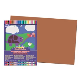 "SunWorks Construction Paper (12"" W x 18\"" L) - Brown"