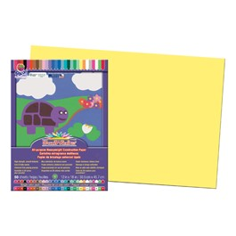 "SunWorks Construction Paper (12"" W x 18\"" L) - Yellow"