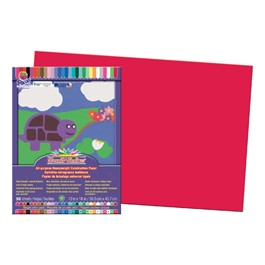 "SunWorks Construction Paper (12"" W x 18\"" L) - Red"