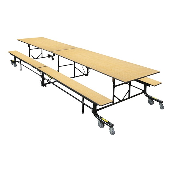 19F Series Mobile Folding Bench Cafeteria Table