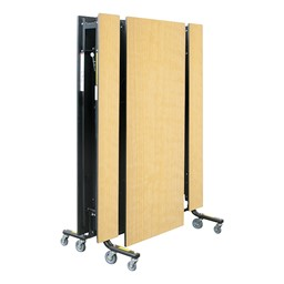 19F Series Mobile Folding Bench Cafeteria Table - Shown folded