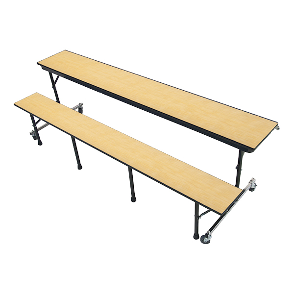 34M Series Mobile Convertible Bench Table   One Sided Table