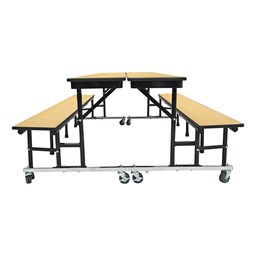 34M Series Mobile Convertible Bench Table - Full Sized Cafeteria Table