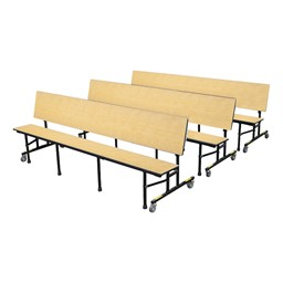34M Series Mobile Convertible Bench Table - Bench Set Up