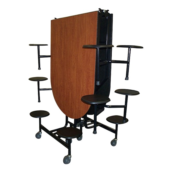 59T Series Elongated Stool Cafeteria Table - storage