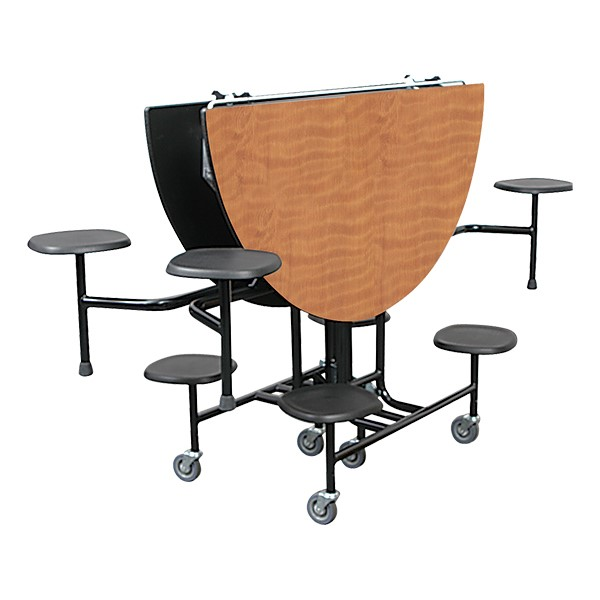 """59T Series 60"""" Round Stool Cafeteria Table - storage"""