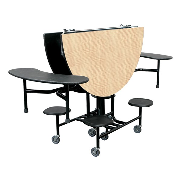59T Series Round Combo-Seat Cafeteria Table - storage